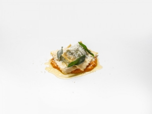 Ravioli with Spinach, Ricotta and Mozzarella