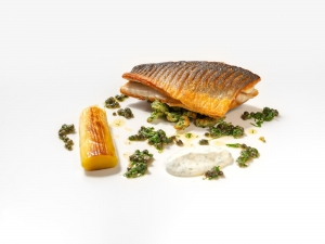 Sea Bass Fillet with Herb Dumpling