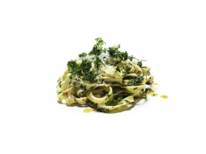 Home-made Tagliatelle with Chilli, Garlic and Parsley