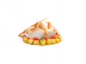 Coconut Panna Cotta with Pineapple and Rum