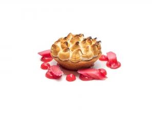 Lemon Meringue Pie with Rhubarb